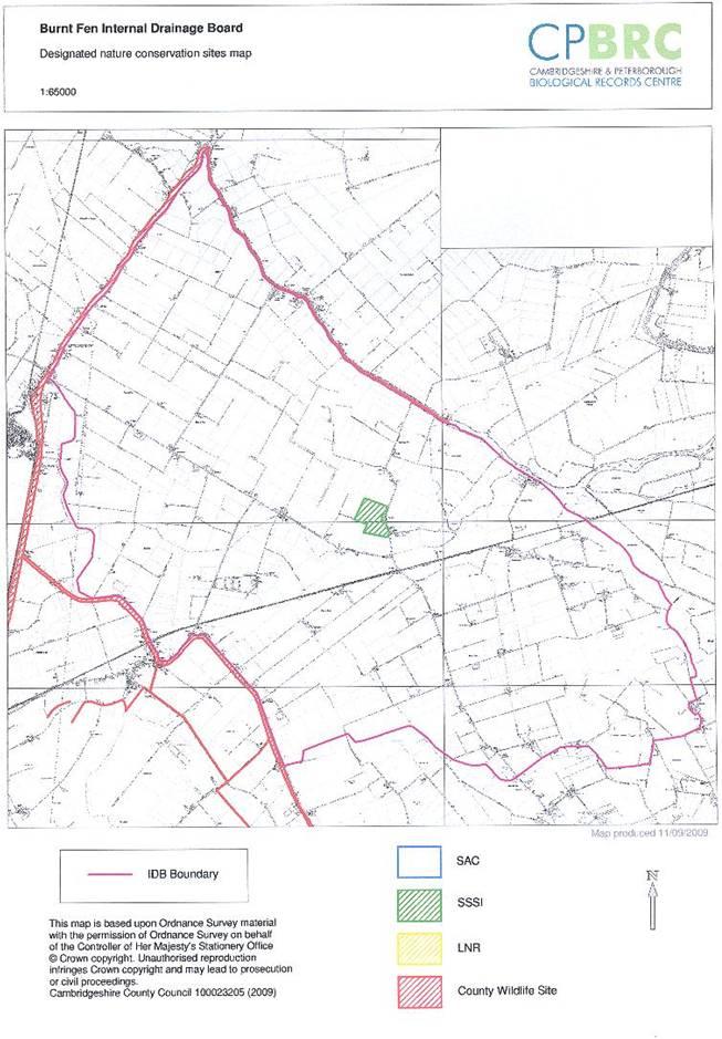 Burnt Fen BAP map