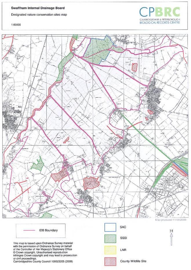 Swaffham Biodiversity map